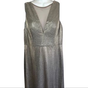 NWT Glamorous Champagne Color Prom Dress size 12